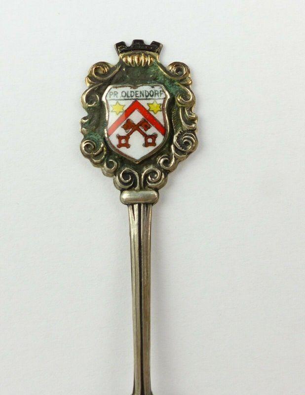 E10522 Alter Sammlerlöffel mit Wappen Preußisch Oldendorf aus 800 Silber 1