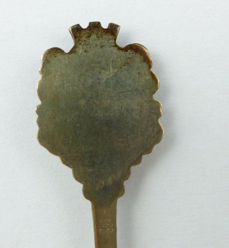 E10522 Alter Sammlerlöffel mit Wappen Preußisch Oldendorf aus 800 Silber 4