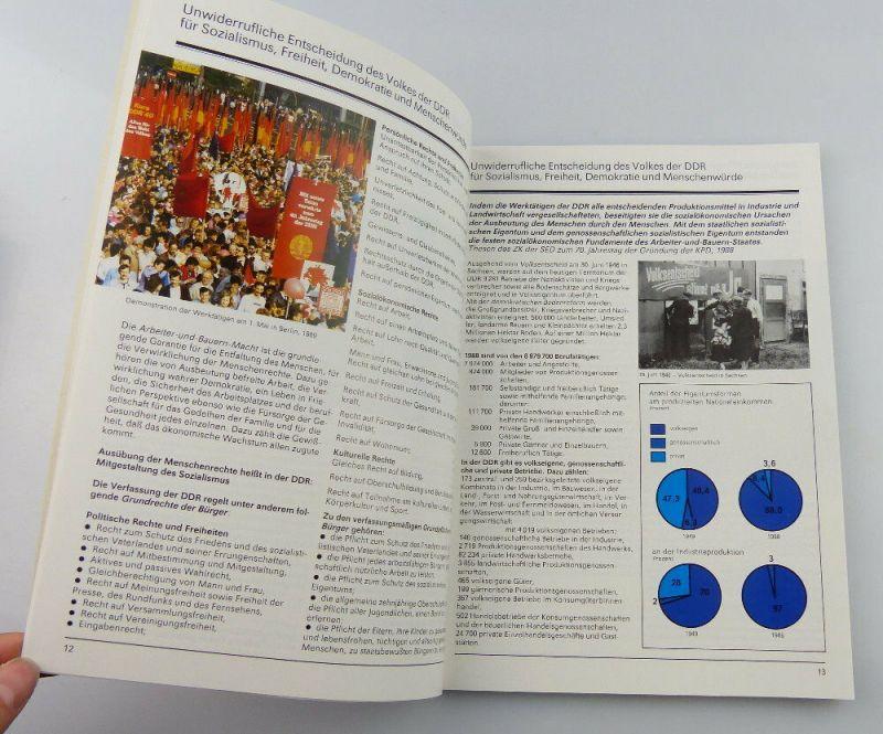 Heft: 40 Jahre DDR 1989 zusammengestellt von Abt. des Zentralkomitees SED, so327 3