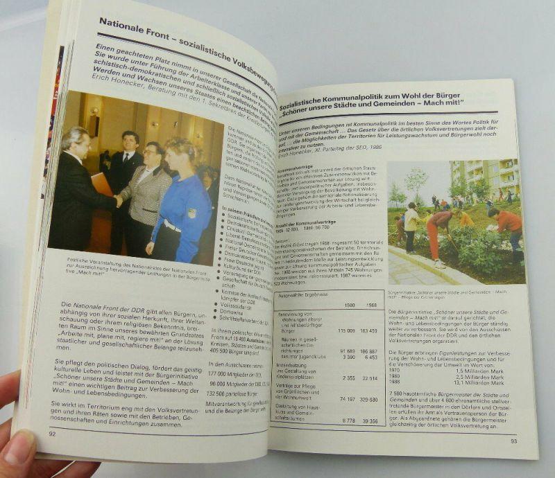 Heft: 40 Jahre DDR 1989 zusammengestellt von Abt. des Zentralkomitees SED, so327 4