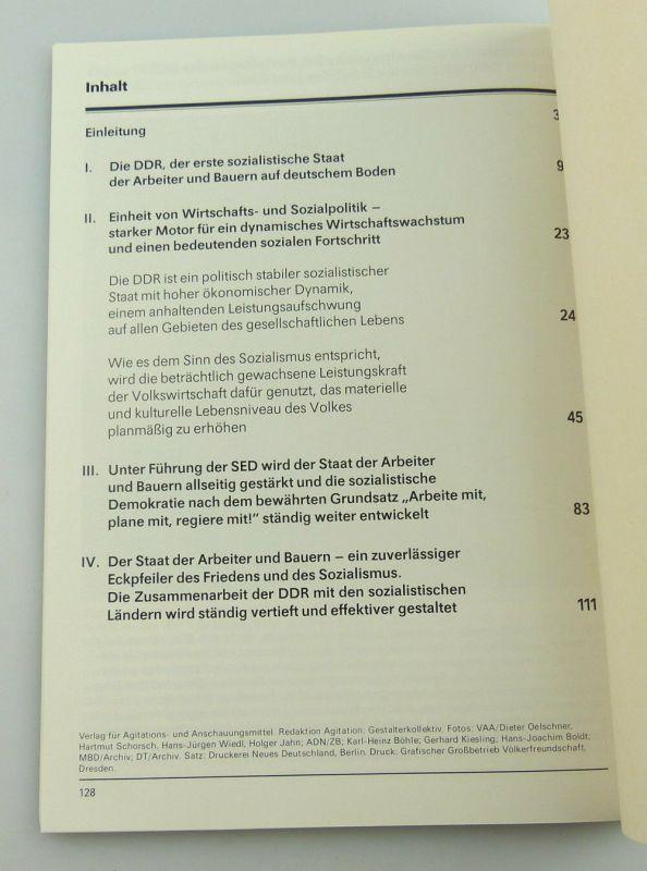 Heft: 40 Jahre DDR 1989 zusammengestellt von Abt. des Zentralkomitees SED, so327 5