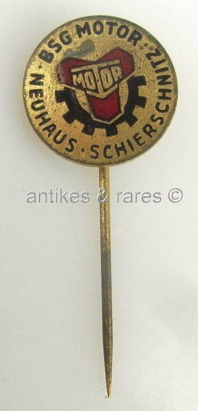 DDR Fußball Anstecknadel: BSG Motor Neuhaus Schierschnitz