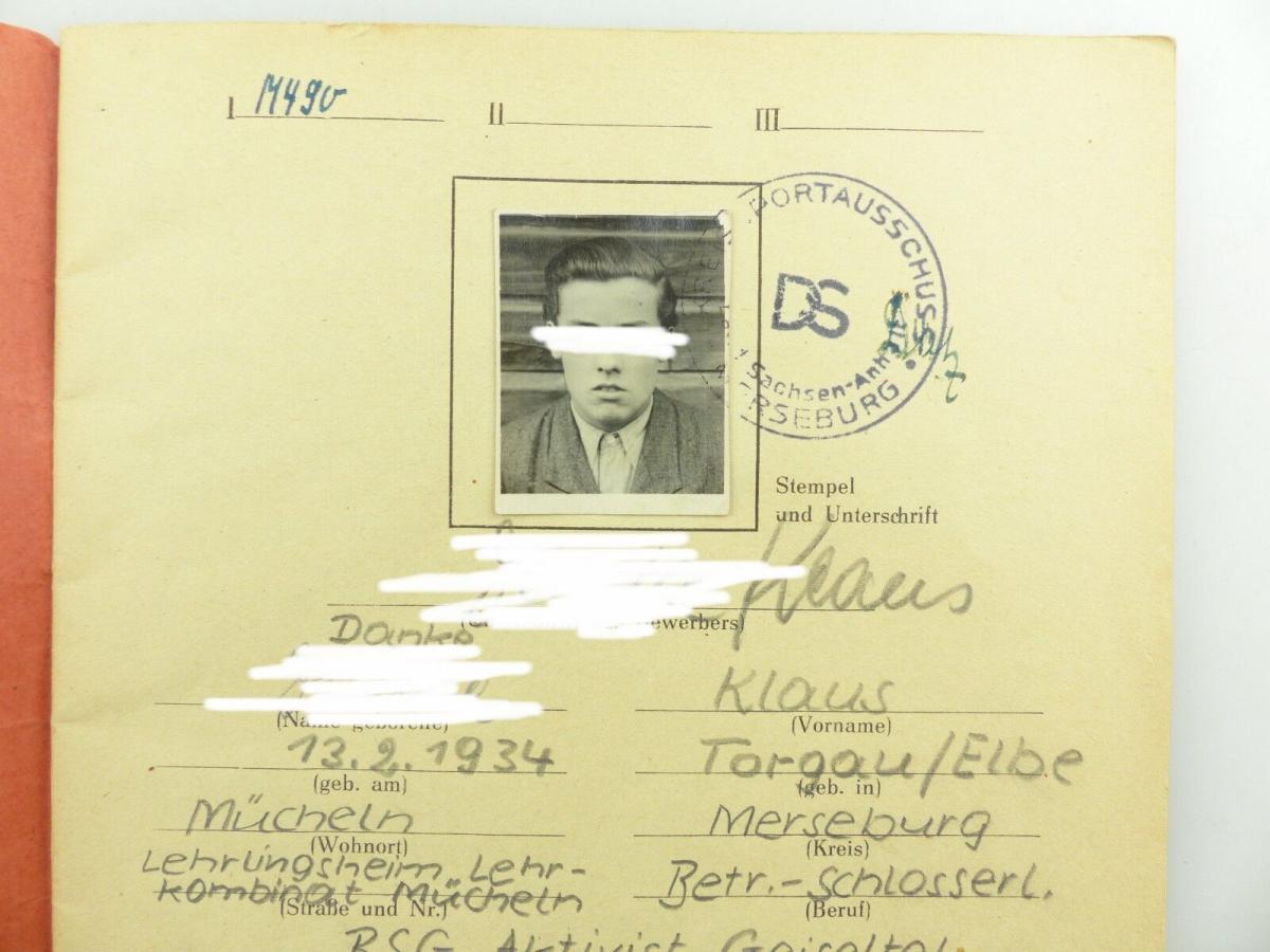 Original Leistungsbuch Deutscher Sportausschuss mit Eintragungen und Urkunde 4