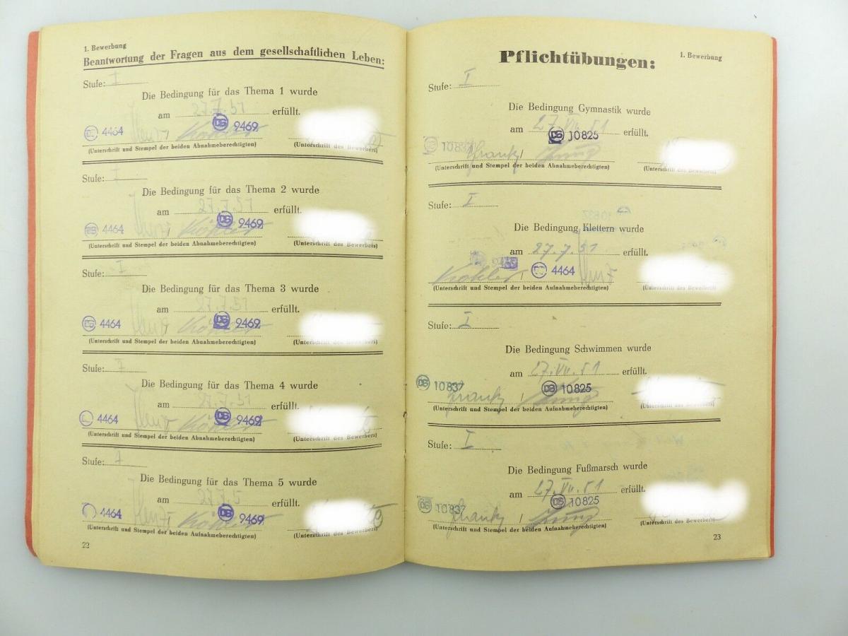 Original Leistungsbuch Deutscher Sportausschuss mit Eintragungen und Urkunde 7