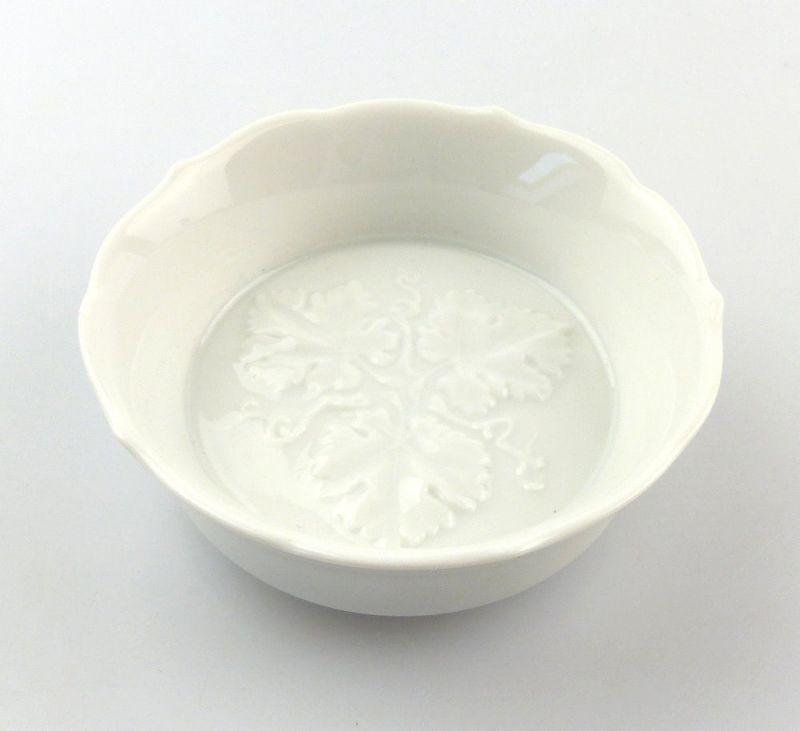 #e4885 Meissen Porzellan Salznäpfchen / Gewürzschale 1. Wahl weiß