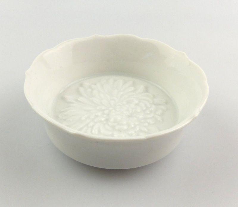 #e4857 Meissen Porzellan Gewürzschälchen 1. Wahl Chrysantheme
