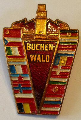 DDR Abzeichen Buchenwald Emailliert