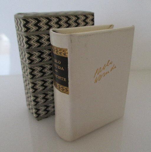 Minibuch Pablo Neruda Gedichte mit Danksagung innenliegend bu0154