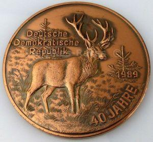 DDR Medaille 40 Jahre DDR Dank und Annerkennung StFB Oelsnitz i. Voigtl.(Forst7)