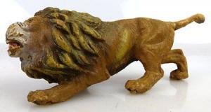 Altes Masse Lineol Tier: Löwe mit schönen Ausdruck im Gesicht
