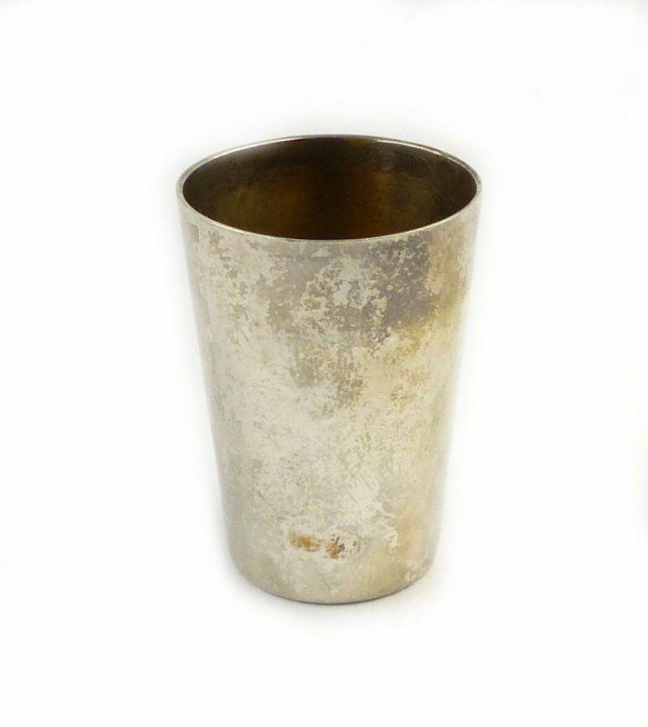 #e6725 Original alter Schnapsbecher / Wodkabecher 800 (Ag) Silber 17,1 g WTB