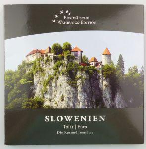 #e7365 Slowenien Kursmünzensatz Tolar und Euro Münzen Europäische Währung