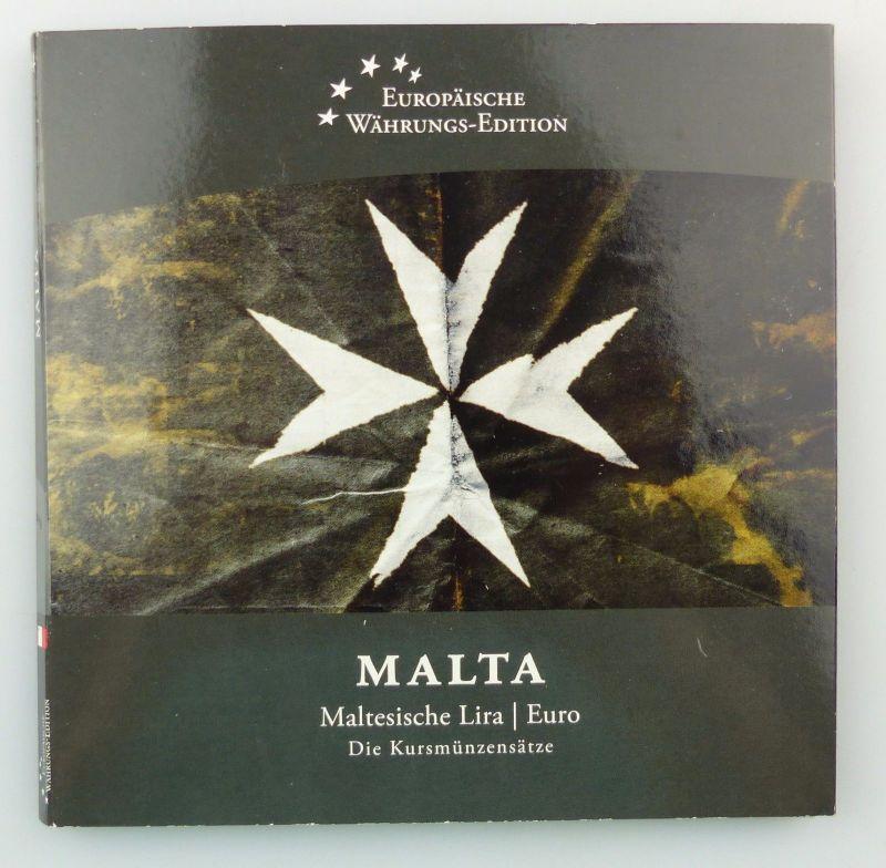 #e7366 Malta Kursmünzensatz Maltesische Lira und Euro Münzen Europäische Währung