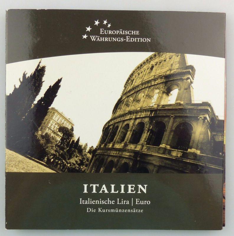#e7367 Italien Kursmünzensatz Italienische Lira und Euro Münzen