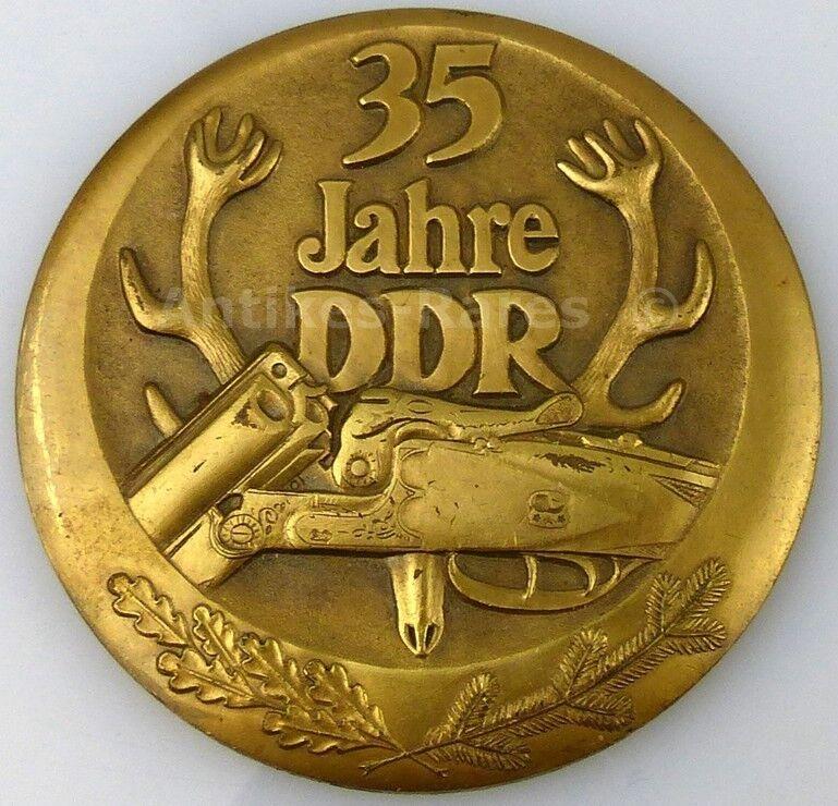 DDR Medaille 35 Jahre Jagdwesen in der DDR (Forst5)