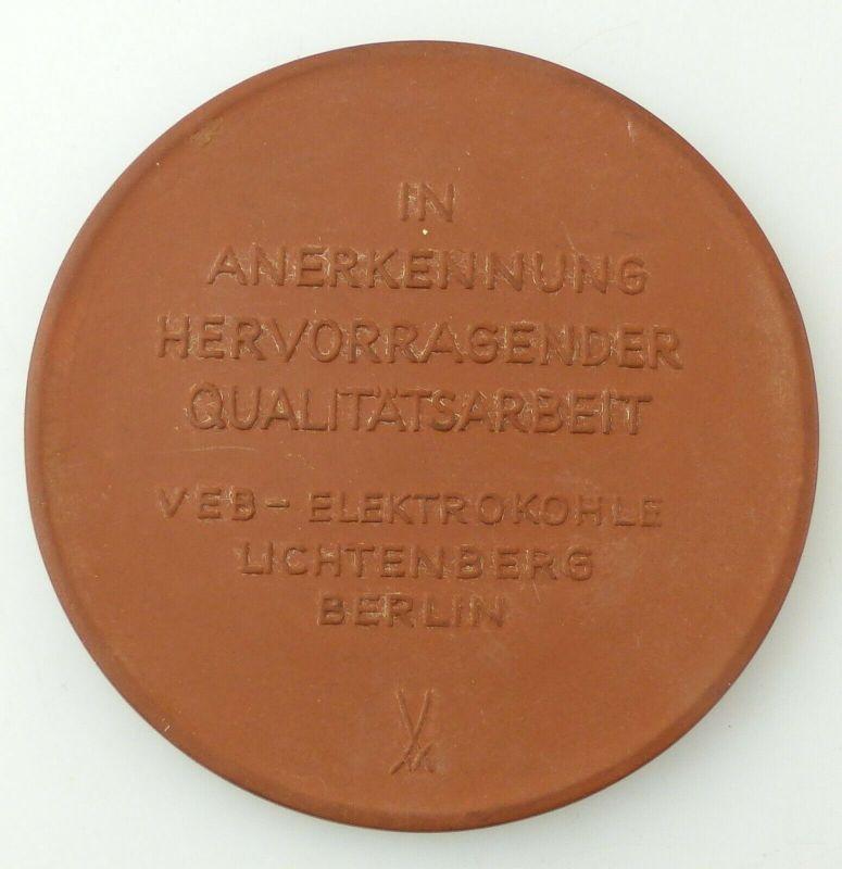 E10766 Meissen Medaille VEB Elektrokohle Lichtenberg Berlin EKL Qualitätsarbeit