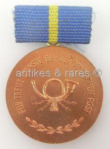DDR Treuedienstmedaille der Deutschen Post in Bronze