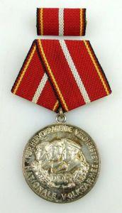 Verdienstmedaille der NVA in 900 Silber vgl Band I Nr. 146 f Punze 10, Orden1202