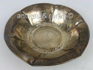 Dekorative Schale in 800 (Ag) Silber gehämmert (norb704)