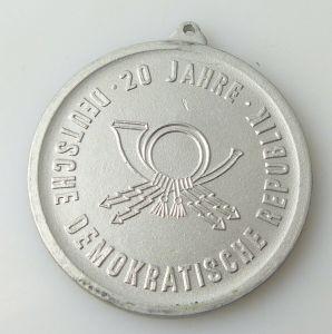 Medaille : 20 Jahre DDR Bezirkssportfest der Deutschen Post 1969   / r475