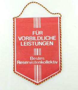 E10826 Alter Wimpel für vorbildliche Leistungen Bestes Reservistenkollektiv DDR