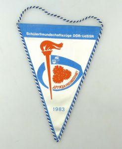 E10821 Alter Wimpel Schülerfreundschaftszüge DDR UdSSR 1983 JP FDJ