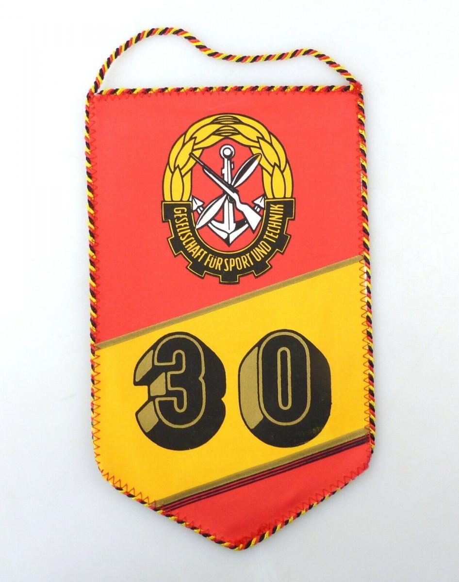 E10817 Alter Wimpel 30 Jahre GST sozialistische Wehrorganisation der DDR 2