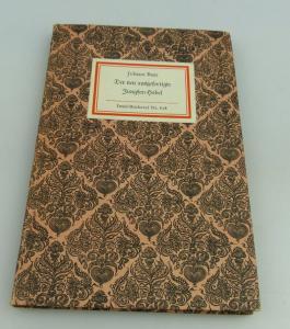 Insel Bücherei: Inselbuch Nr.878 Der neu ausgefertigte Jungferhobel bu0541