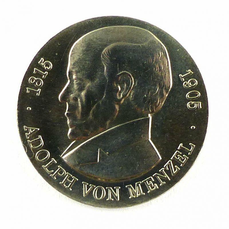 #e6400 5 Mark Gedenkmünze DDR aus dem Jahr 1980 Adolf von Menzel 1815-1905