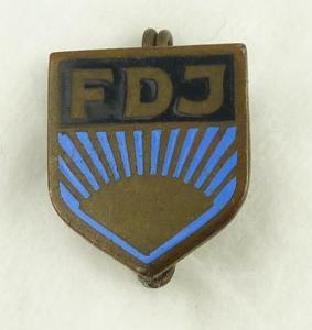 Abzeichen : Freie Deutsche Jugend FDJ Mitgliedsabzeichen vgl Band V Nr.3 a/ r496