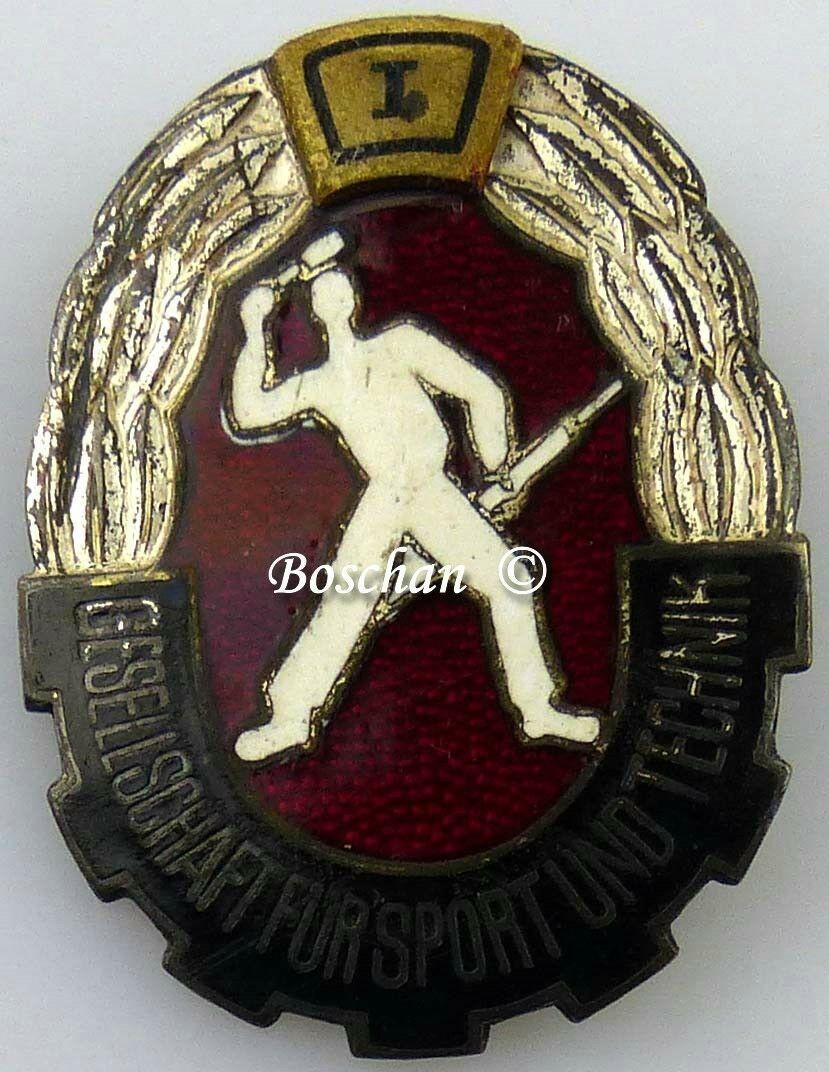 DDR GST Mehrkampfabzeichen von 1960 - 1965 in Silber 1. Wiederholung  (GST0391)