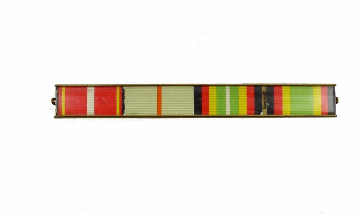 #e6133 4er Interimsspange TDM Silber, Waffenbrüderschaft Bronze, Treue Dienste