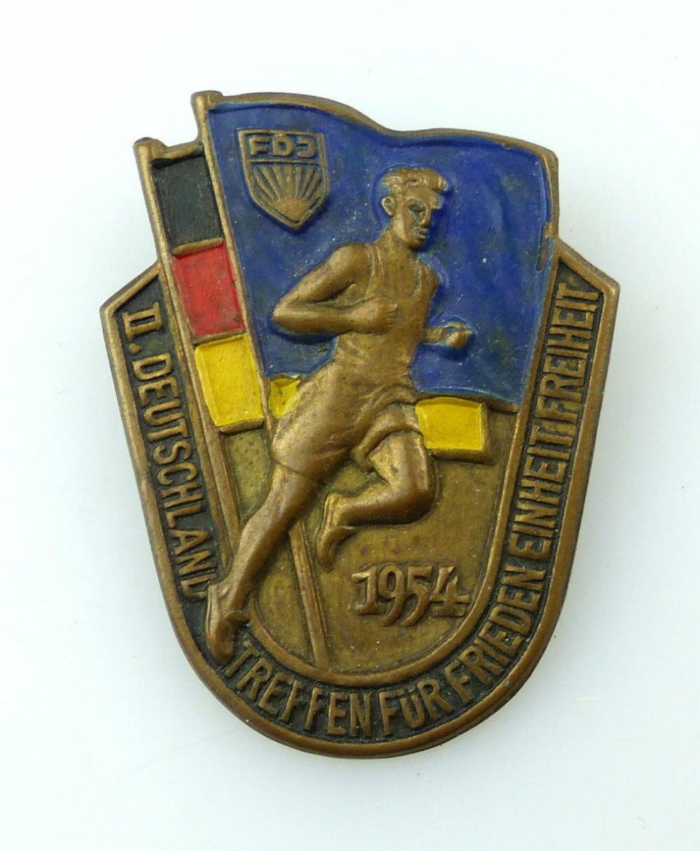 #e2689 Massensportabzeichen in Bronze zum II. Deutschlandtreffen FDJ 1954 Nr.413