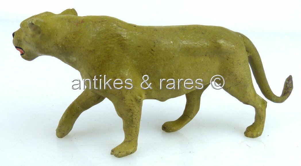 Altes Elastolin Tier: angreifende Raubkatze (linol084) 2