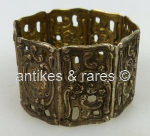 Dekorativer Serviettenring aus 800 Silber norb698