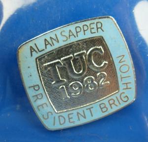 Medaille: Tuc 1982 Alan Sapper President Brighton / r053