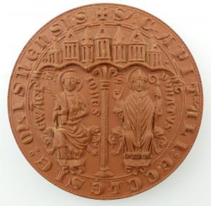 #e3193 Meissen Medaille Hochstift Meissen 968 - 1968