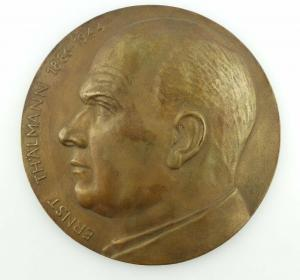Große alte Bronze Medaille: Ernst Thälmann 1886-1944 e1323