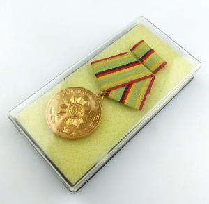 #e5569 Verdienstmedaille der Organe des Ministeriums des Innern in Gold Nr. 211
