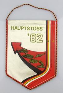 Wimpel: Hauptstoss '82 Klassenbrüder Waffenbrüder unbesiegbar Dem Fei, Orden1864