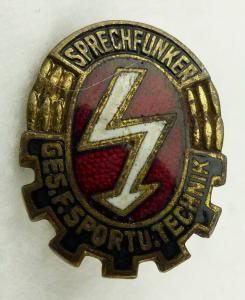GST681 Sprechfunker Abzeichen, emailliert 1956-1958 vgl. Band VII Nr. 681