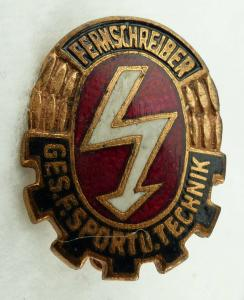 GST668a Fernschreib Leistungsabzeichen in Bronze ab 1964 vgl. Band VII Nr. 668 a