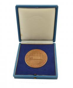 E9139 Medaille 750 Jahre Stadt Plauen Vogtland 25 Jahre DDR bronzefarben