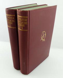 2 Bücher: Conrad Ferdinant Meyer - Sämtliche Werke 1-2 und 3-4 e1254