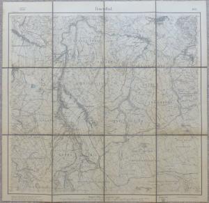 E10183 Original alte Landkarte von 1911 Rosenthal Papstdorf Langenhennersdorf