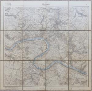 E10182 Original alte Landkarte Königstein Sachsen Porschdorf Hohnstein von 1912