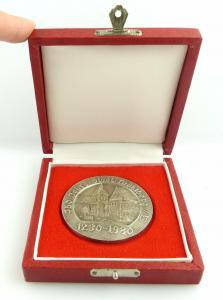 Medaille: 750 Jahre Stadt Mühlberg 1230-1980 silberfarben e1594