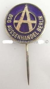 DDR Fußball Anstecknadel: BSG Aussenhandel Berlin