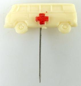 Anstecknadel Krankenwagen mit rotem Kreuz