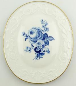 E11012 Original Meissen Porzellan Wandbild 1 Wahl mit Goldrand und Blumen